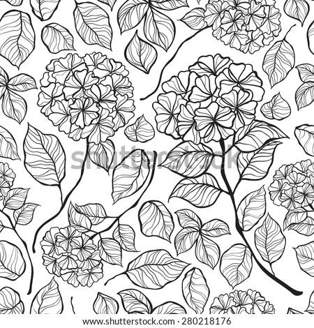 flowers hydrangea seamless background