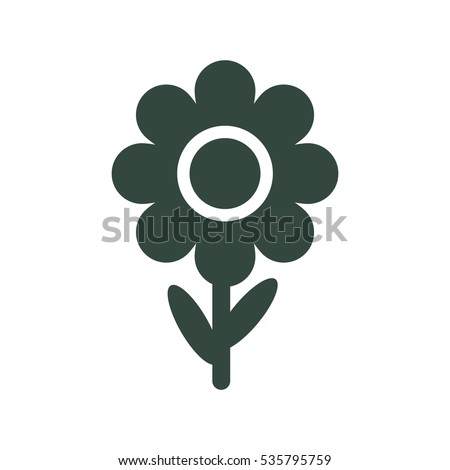 Flowers Icon Vector flat design style