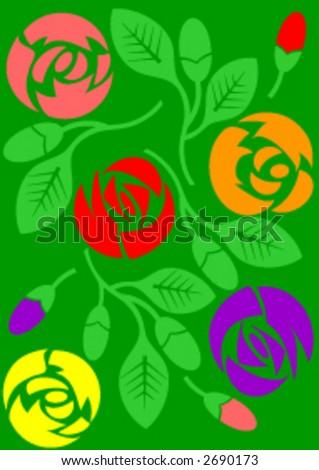 Flowers in vector format.