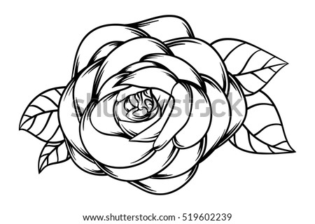 Rose flower vector background black and white download free vector flowers roses black and white isolated on white background vector illustration mightylinksfo