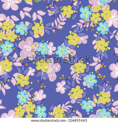 Flowers - seamless pattern