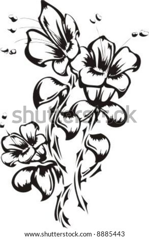 tattoo pictures of flowers. stock vector : Flowers Tattoo