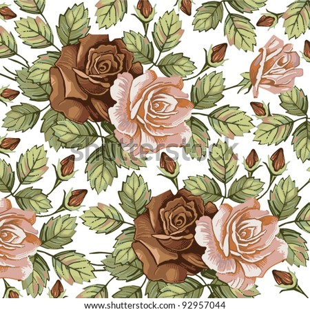 Flowers. Vector. Beautiful background with a flower ornament.