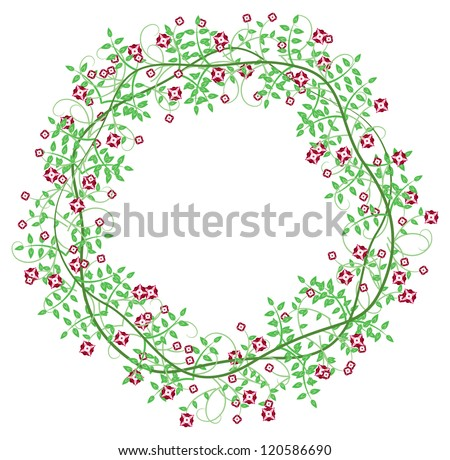 Flowers Vines Border Frame
