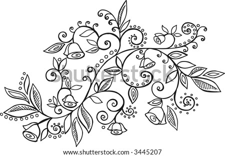 Vines Flowers Vector Flowers Vines Vector