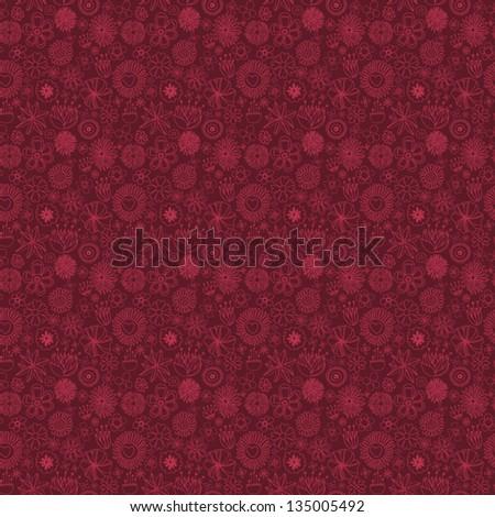 Flowers. Vinous seamless texture