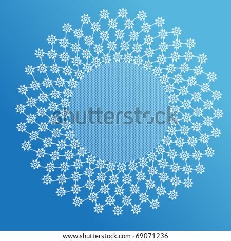 Flowery lace white circle