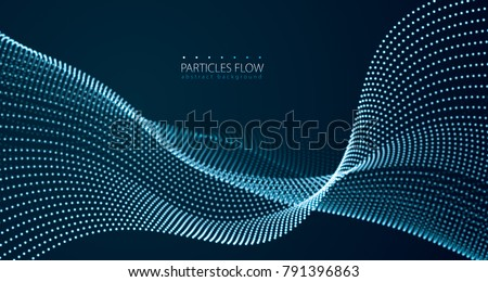 flowing energy particles  wave