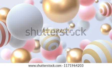 flowing multicolored spheres