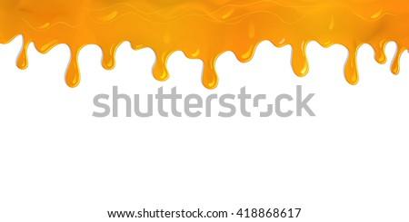 flowing paint orange