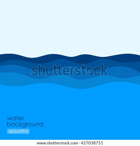 flowing waves in flat style