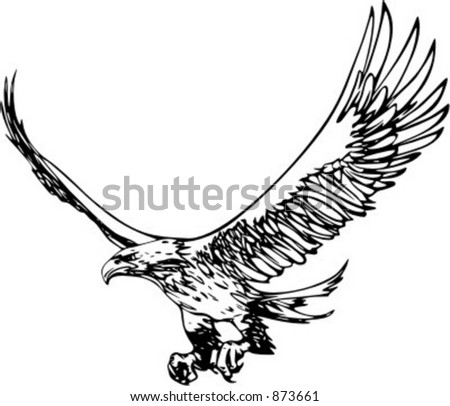 Flting Eagle - vehicle graphic. Ready for vinyl cutting. Check my portfolio for many more images.