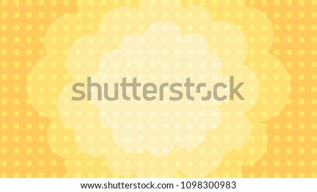 fluffy cloud polka dot background vector illustration