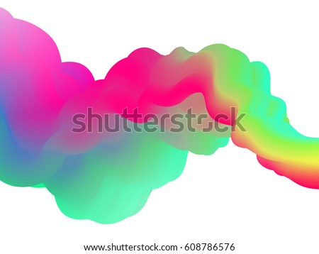 fluid abstract shape on white