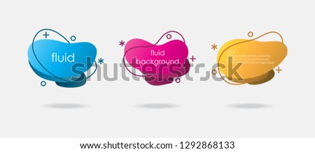 Fluid Background with Dark Line Sets. Abstract and Dynamic Shape Vector Design Isolated on White Background.