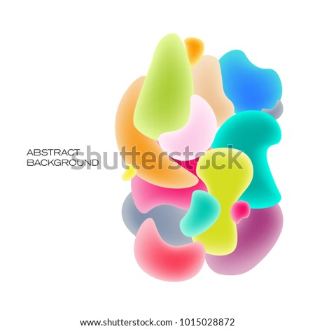 Fluid colorful bubbles. Abstract background #1015028872