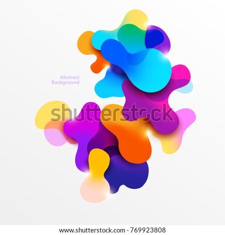 fluid colorful bubbles