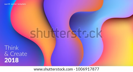 Fluid colorful shapes composition. Trendy gradients. Eps10 vector.