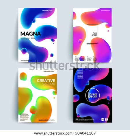 fluid colors backgrounds set
