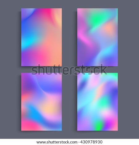 stock-vector-fluid-colors-backgrounds-set-holographic-effect-applicable-for-gift-card-cover-poster-brochure
