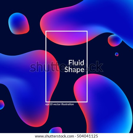 fluid colors shape on black