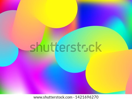 Fluid dynamic. Vivid gradient mesh. Molecular certificate, wallpaper design. Holographic 3d backdrop with modern trendy blend. Fluid dynamic background with liquid shapes and elements.