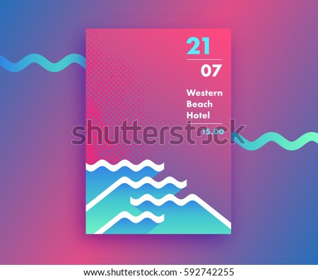 fluid gradients abstract poster