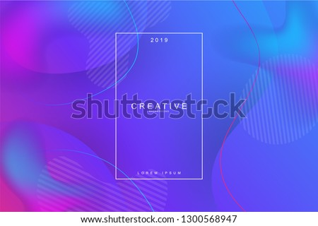 Fluid landing page background. Fluid, liquid, wavy, gradient, flowing, dynamic shape background. Trendy and modern background color. Cool banner design template. #1300568947