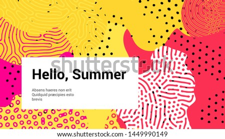 Fluid organic colorful shapes, Creative pop art vector illustration of vivid splashes and blots with Reaction-Diffusion pattern. Trendy retrofuturistic neo memphis style.