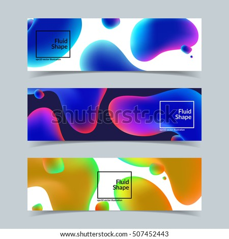 fluid shapes banners set