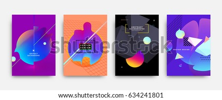 fluid shapes poster covers set