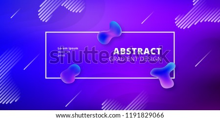 Fluid style geometric background - Futuristic minimal gradient template #1191829066