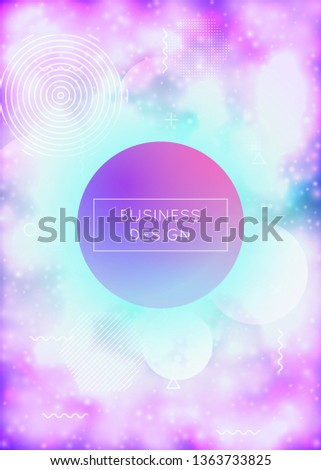 Fluorescent cover with liquid neon shapes. Purple fluid. Luminous background with bauhaus gradient. Graphic template for placard, presentation, banner, brochure. Retro fluorescent cover.