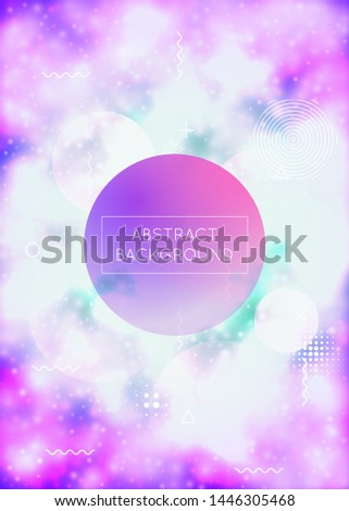 Fluorescent cover with liquid neon shapes. Purple fluid. Luminous background with bauhaus gradient. Graphic template for flyer, ui, magazine, poster, banner and app. Lucid fluorescent cover.