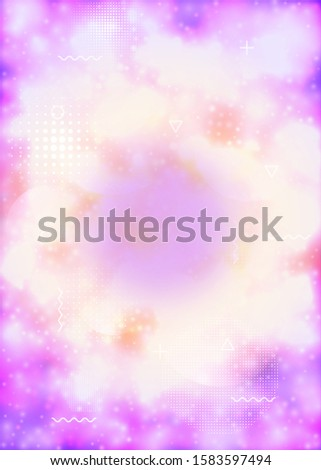 Fluorescent cover with liquid neon shapes. Purple fluid. Luminous background with bauhaus gradient. Graphic template for book, annual, mobile interface, web app. Dazzling fluorescent cover.
