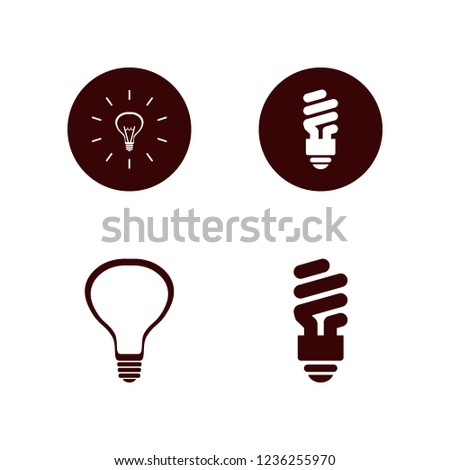 fluorescent icon. fluorescent vector icons set bulb and fluorescent bulb