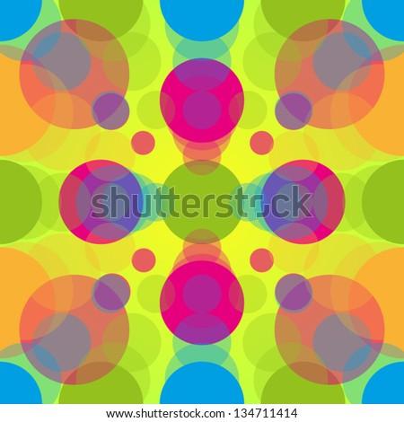 fluorescent 60s pattern