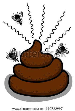 Fly And Feces Stock Vector Illustration 110722997 : Shutterstock