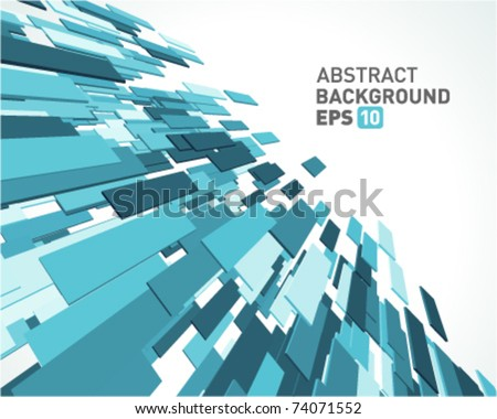 Fly blue 3d lines vector background. Eps 10