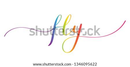 FLY brush calligraphy banner