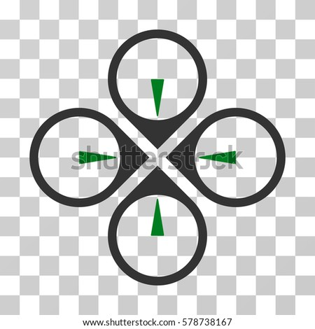 fly drone icon vector