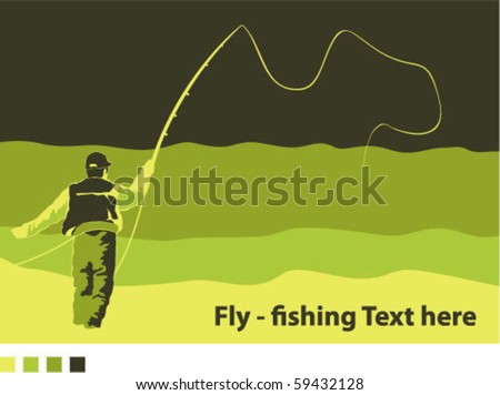 Fly fisherman 4 Color Art