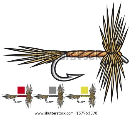 fly fishing flies (fishing fly, fly fishing lure, fishing hand made flies)