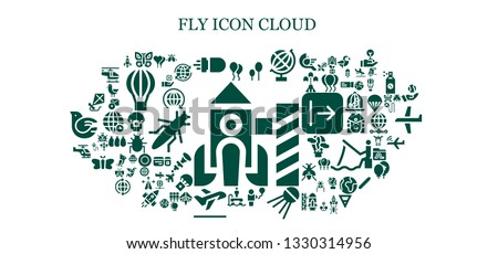 fly icon set. 93 filled fly icons.  Collection Of - Rocket, Balloon, Butterfly, Missile, Balloons, Globe, Sputnik, Flyboard, Take off, Helicopter, Kite, Ladybug, World, Hot air balloon