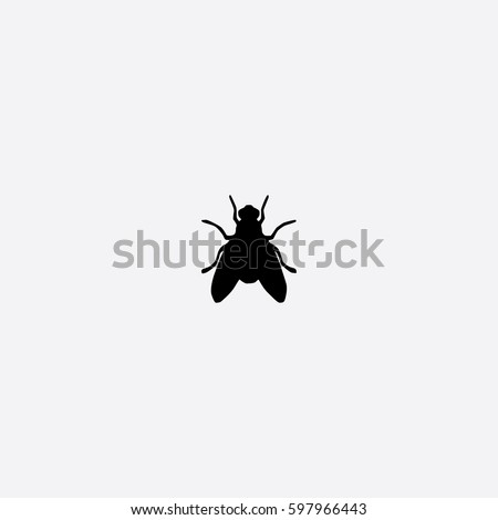 Fly icon silhouette vector illustration