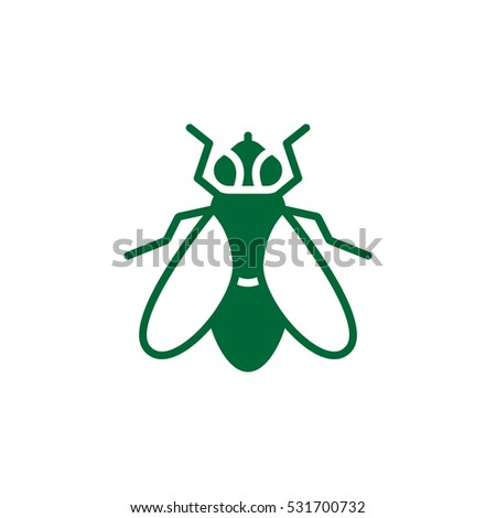 Fly icon vector, filled flat sign, solid colorful pictogram isolated on white. Symbol, logo illustration
