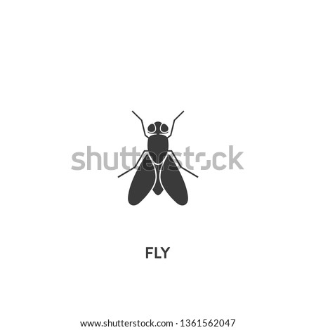 fly icon vector fly sign on