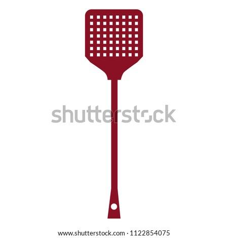 Fly swatter, beats flies, vector