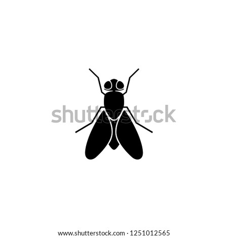 fly vector icon. fly sign on white background. fly icon for web and app