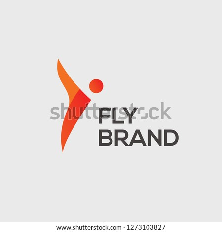 Fly vector logo. Fly emblem. Fly icon